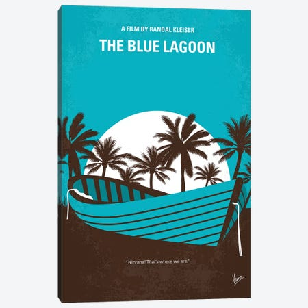 Blue Lagoon Minimal Movie Poster Canvas Print #CKG802} by Chungkong Canvas Art Print