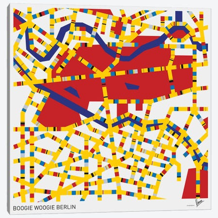 Boogie Woogie Berlin Canvas Print #CKG804} by Chungkong Canvas Art