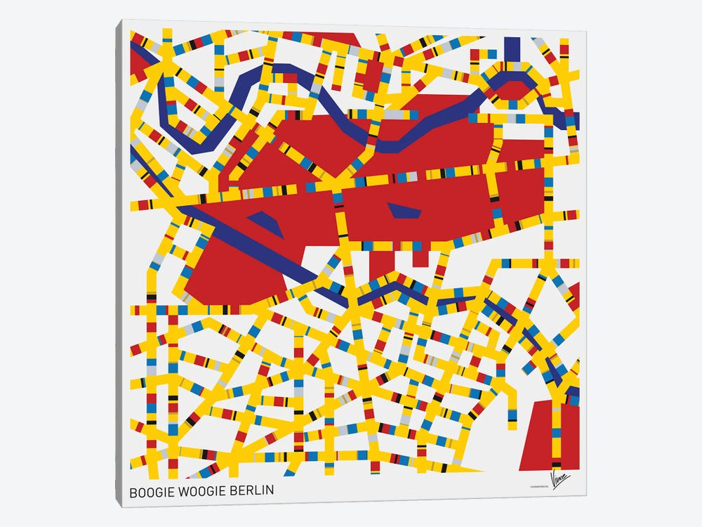 Boogie Woogie Berlin by Chungkong 1-piece Canvas Wall Art