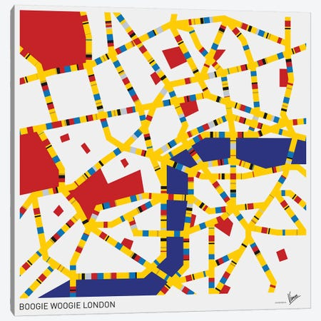 Boogie Woogie London Canvas Print #CKG806} by Chungkong Canvas Wall Art