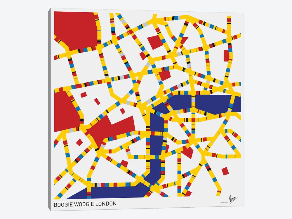 Boogie Woogie London by Chungkong 1-piece Canvas Artwork