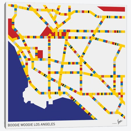 Boogie Woogie Los Angeles Canvas Print #CKG807} by Chungkong Canvas Artwork