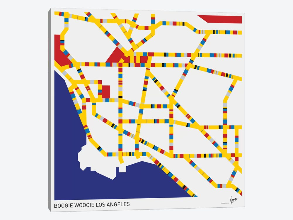 Boogie Woogie Los Angeles 1-piece Art Print