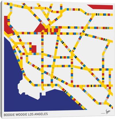Boogie Woogie Los Angeles Canvas Art Print