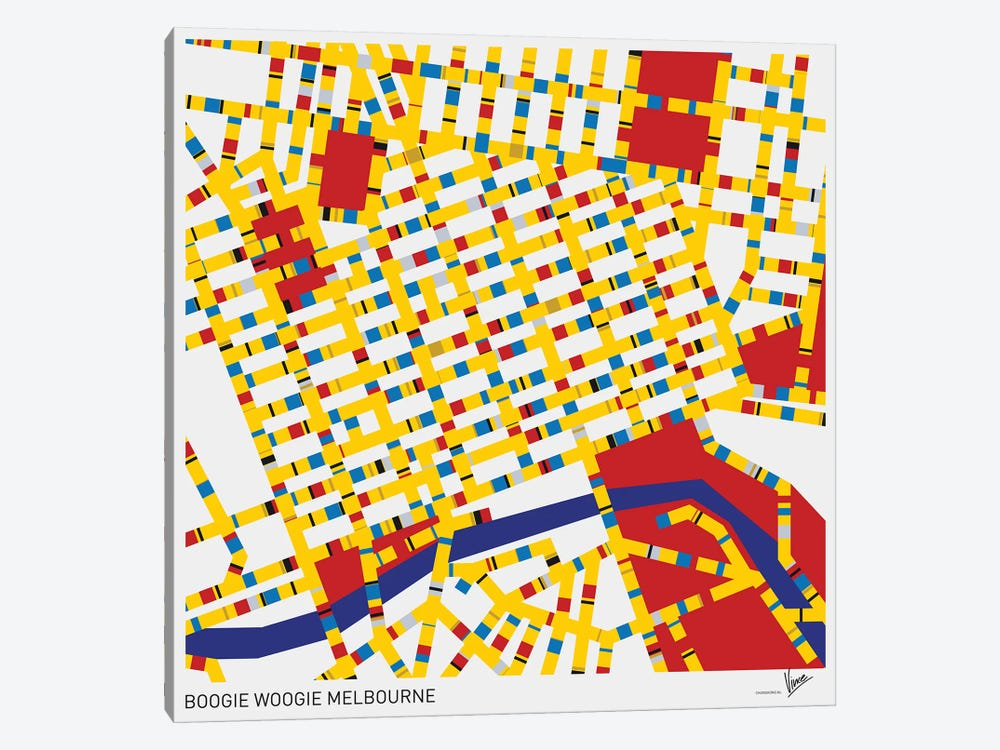 Boogie Woogie Melbourne by Chungkong 1-piece Canvas Artwork