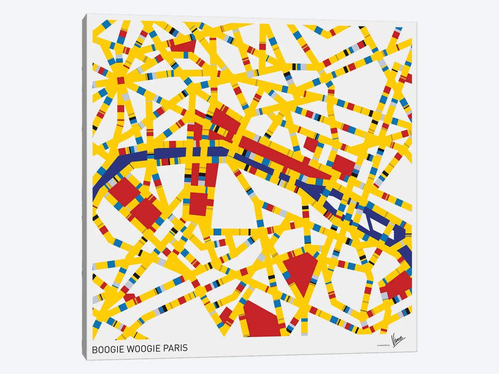 Boogie Woogie Paris by Chungkong 1-piece Art Print