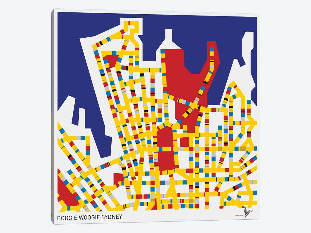 Boogie Woogie Sydney by Chungkong 1-piece Canvas Artwork