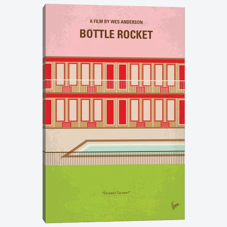 Bottle Rocket Minimal Movie Poster Canvas Print #CKG814} by Chungkong Canvas Art Print