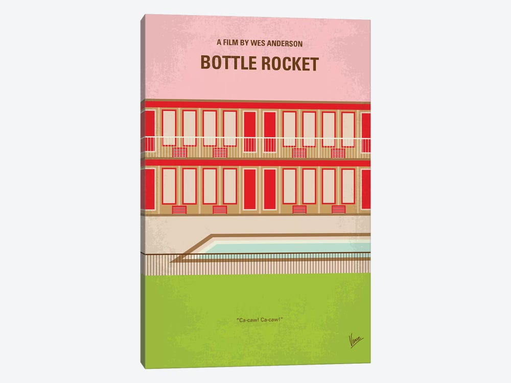 Bottle Rocket Minimal Movie Poster by Chungkong 1-piece Art Print