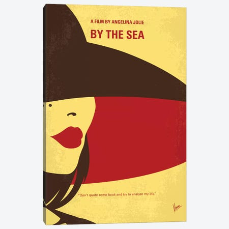 By The Sea Minimal Movie Poster Canvas Print #CKG815} by Chungkong Canvas Print