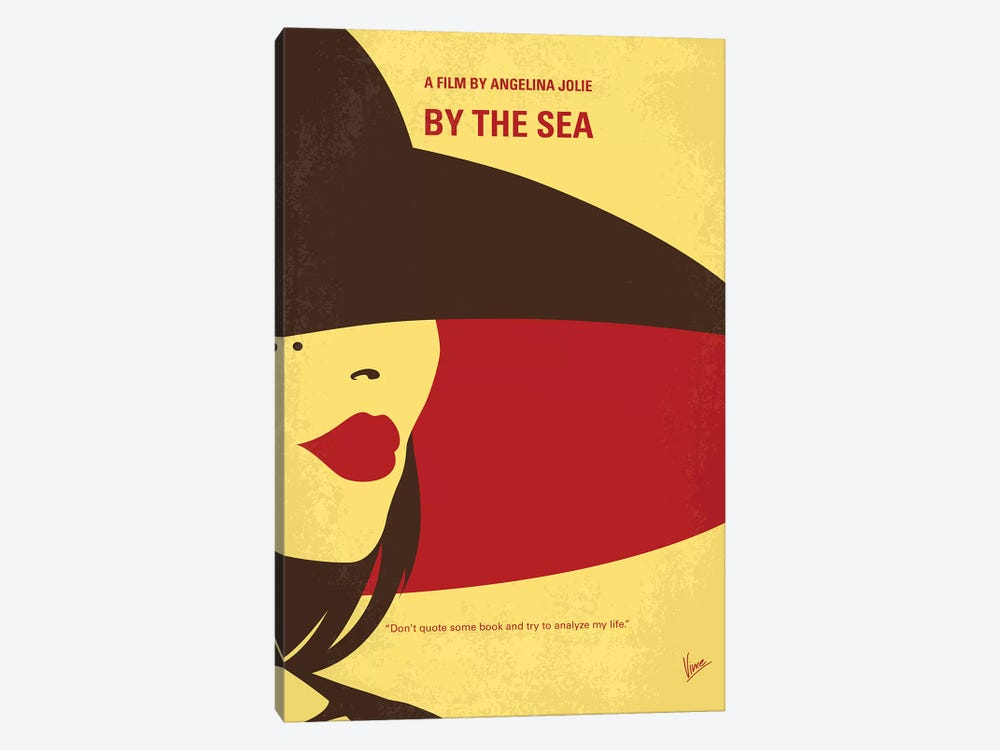 By The Sea Minimal Movie Poster by Chungkong 1-piece Canvas Artwork