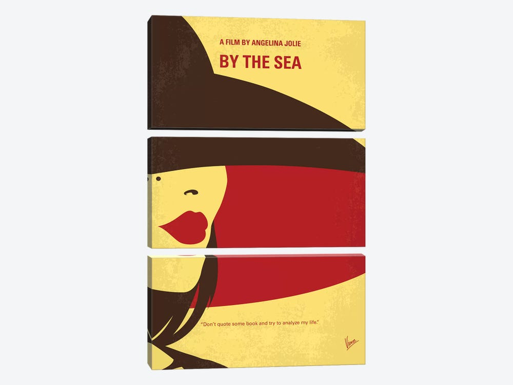 By The Sea Minimal Movie Poster 3-piece Canvas Wall Art