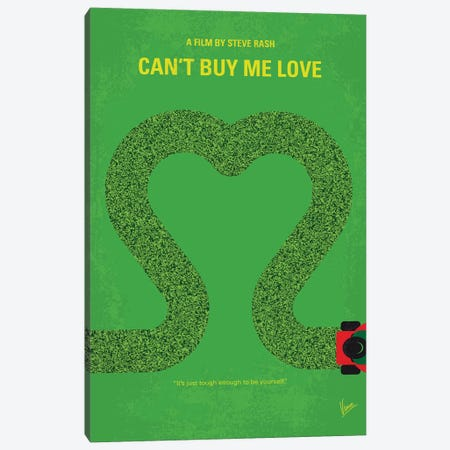 Can't Buy Me Love Minimal Movie Poster Canvas Print #CKG816} by Chungkong Canvas Art Print