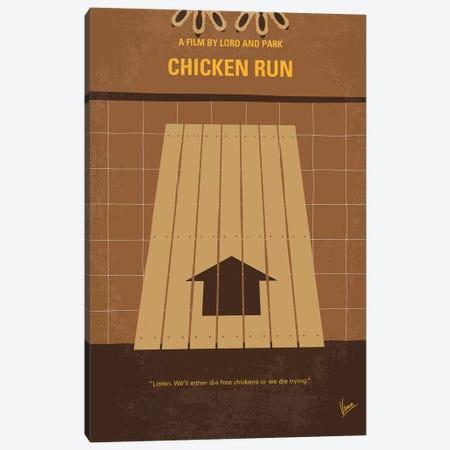 Chicken Run Minimal Movie Poster Canvas Print #CKG817} by Chungkong Canvas Art Print