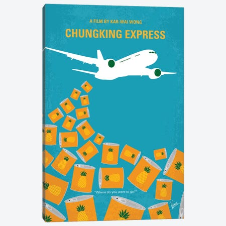 Chungking Express Minimal Movie Poster Canvas Print #CKG818} by Chungkong Canvas Art