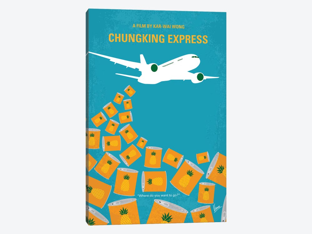 Chungking Express Minimal Movie Poster by Chungkong 1-piece Canvas Print