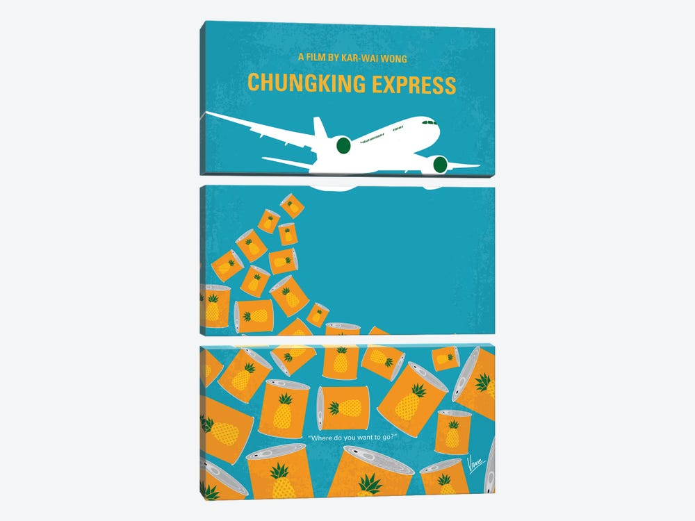Chungking Express Minimal Movie Poster 3-piece Art Print