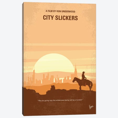 City Slickers Minimal Movie Poster Canvas Print #CKG819} by Chungkong Canvas Art