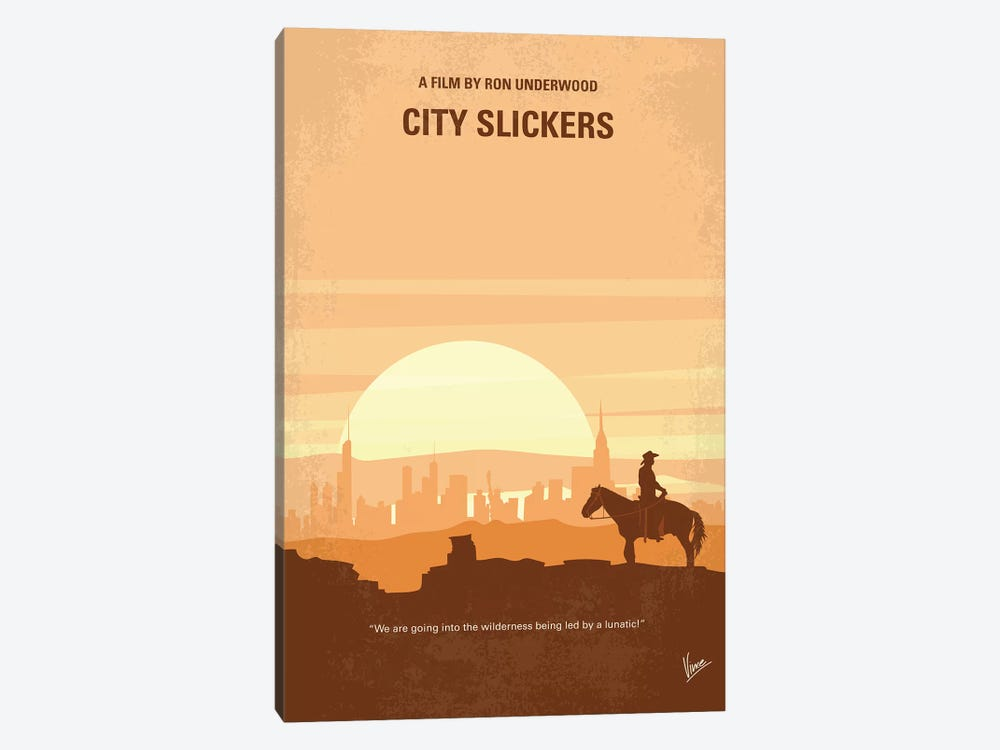 City Slickers Minimal Movie Poster by Chungkong 1-piece Canvas Art
