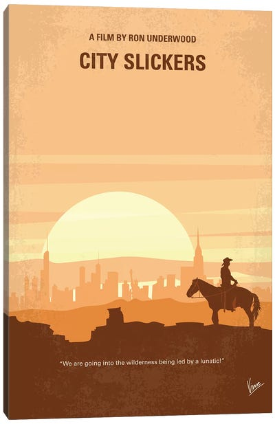 City Slickers Minimal Movie Poster Canvas Art Print