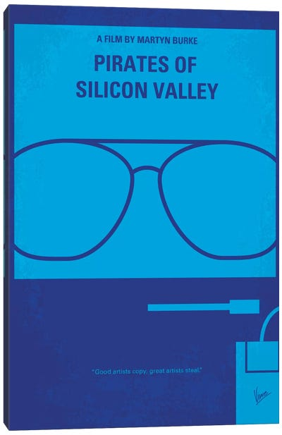 Pirates Of Silicon Valley Minimal Movie Poster Canvas Print #CKG81