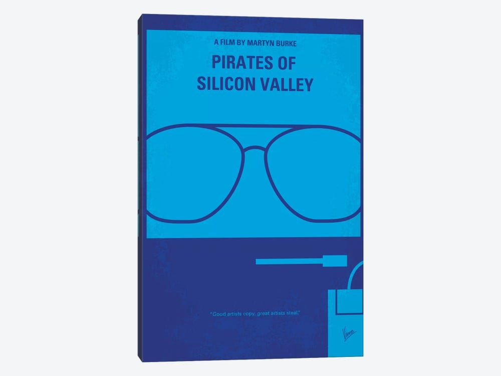 Pirates Of Silicon Valley Minimal Movie Poster by Chungkong 1-piece Canvas Wall Art