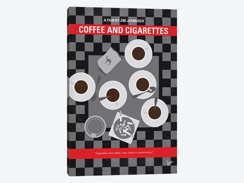 Coffee And Cigarettes Minimal Movie Poster by Chungkong 1-piece Canvas Art Print