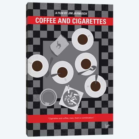 Coffee And Cigarettes Minimal Movie Poster Canvas Print #CKG821} by Chungkong Canvas Art Print