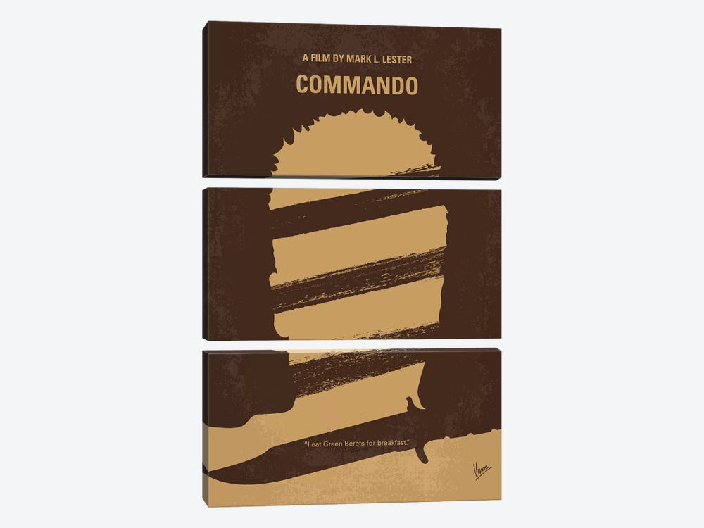 Commando Minimal Movie Poster by Chungkong 3-piece Canvas Artwork