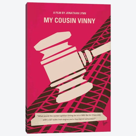 Cousin Vinny Minimal Movie Poster Canvas Print #CKG823} by Chungkong Canvas Art Print