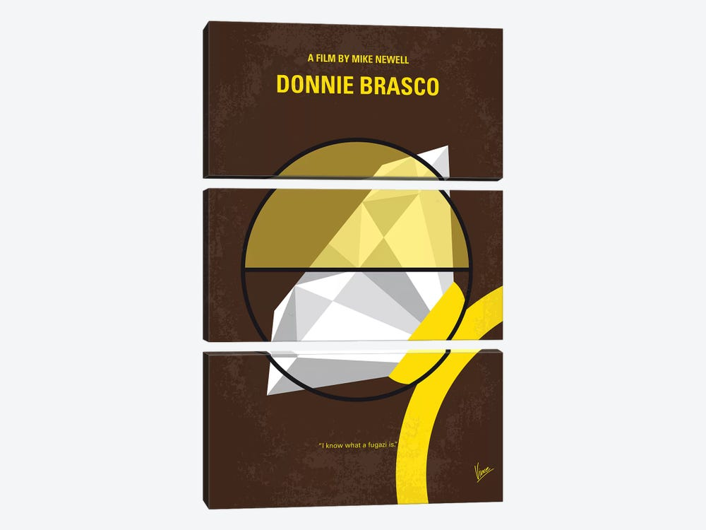 Donnie Brasco Minimal Movie Poster by Chungkong 3-piece Canvas Artwork