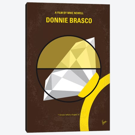 Donnie Brasco Minimal Movie Poster Canvas Print #CKG824} by Chungkong Canvas Wall Art