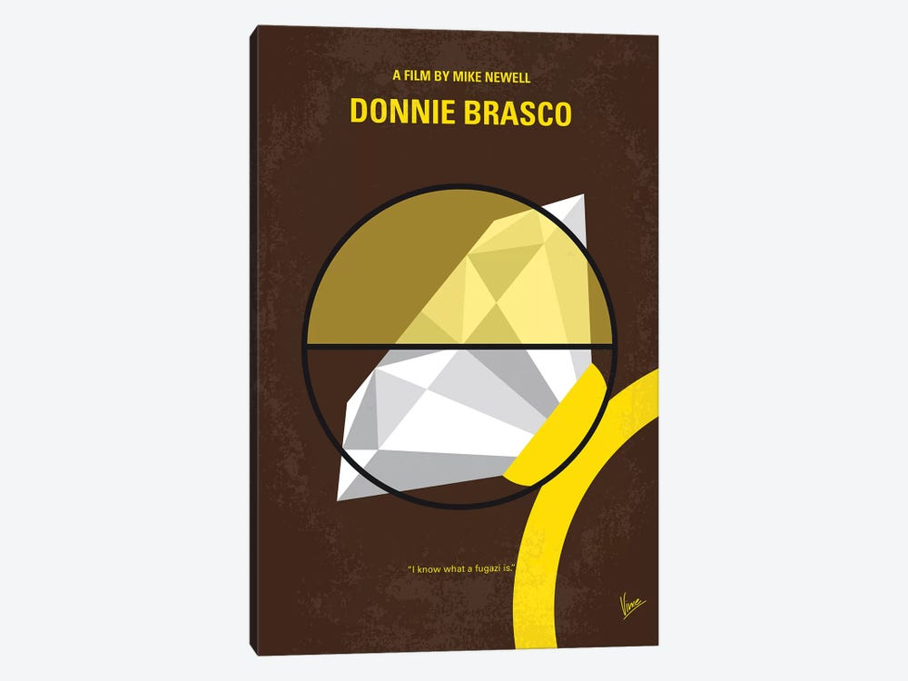 Donnie Brasco Minimal Movie Poster by Chungkong 1-piece Canvas Art