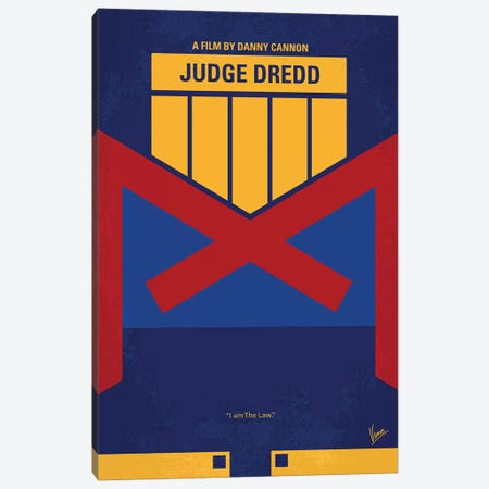 Dredd Minimal Movie Poster Canvas Print #CKG825} by Chungkong Canvas Art