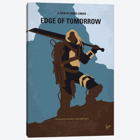 Edge Of Tomorrow Minimal Movie Poster Canvas Print #CKG827} by Chungkong Canvas Wall Art