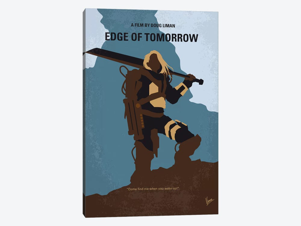 Edge Of Tomorrow Minimal Movie Poster by Chungkong 1-piece Canvas Print