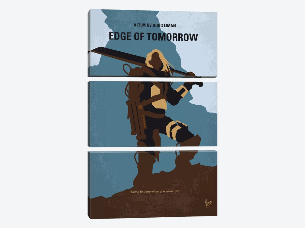 Edge Of Tomorrow Minimal Movie Poster by Chungkong 3-piece Art Print