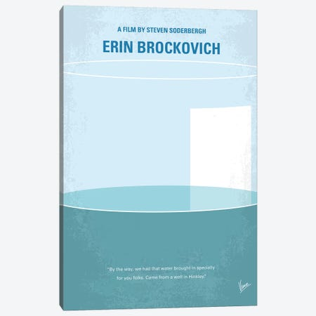 Erin Brockovich Minimal Movie Poster Canvas Print #CKG828} by Chungkong Canvas Art Print