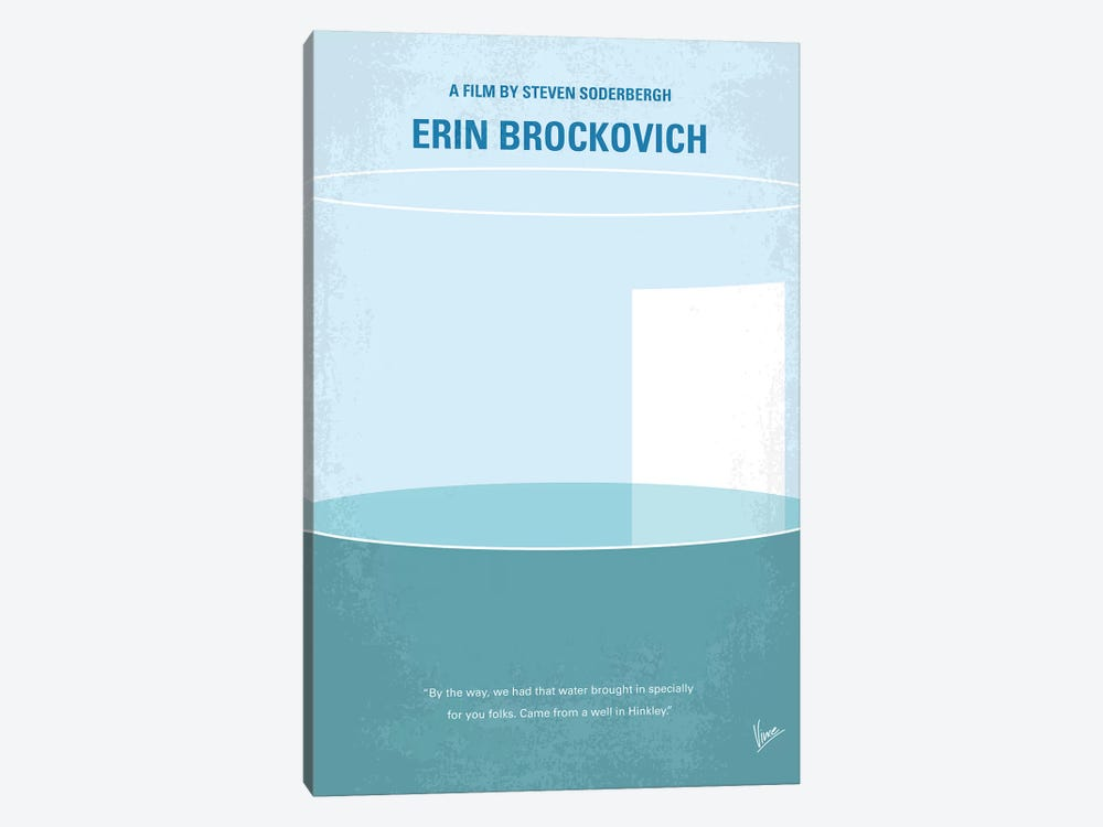 Erin Brockovich Minimal Movie Poster by Chungkong 1-piece Canvas Artwork