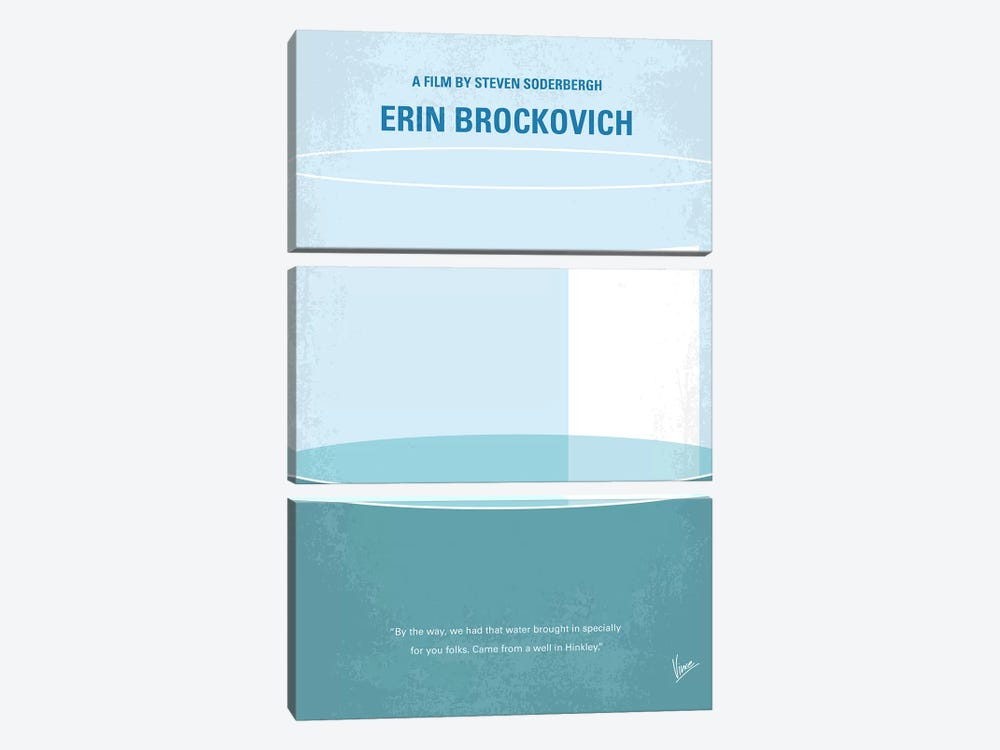 Erin Brockovich Minimal Movie Poster by Chungkong 3-piece Canvas Art