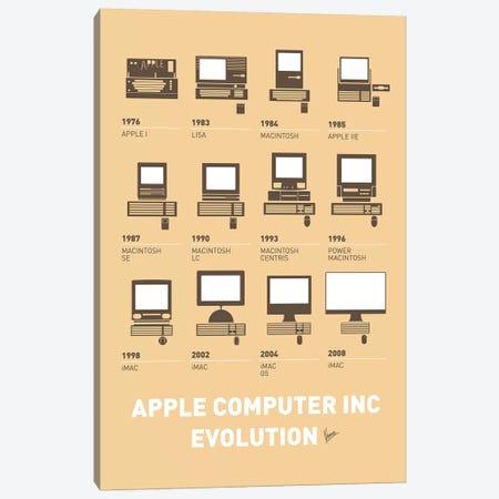 Evolution Apple Mac Minimal Poster Canvas Print #CKG829} by Chungkong Art Print
