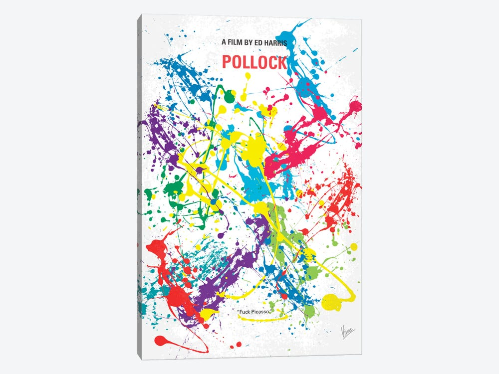 Pollock Minimal Movie Poster by Chungkong 1-piece Canvas Art Print