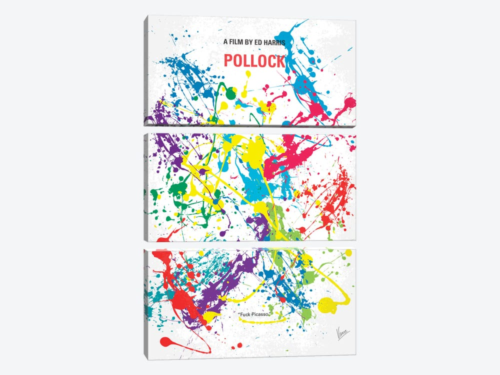 Pollock Minimal Movie Poster by Chungkong 3-piece Canvas Art Print