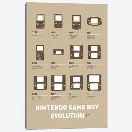 Evolution Nintendo Game Boy Minimal Poster Canvas Print #CKG830} by Chungkong Canvas Wall Art