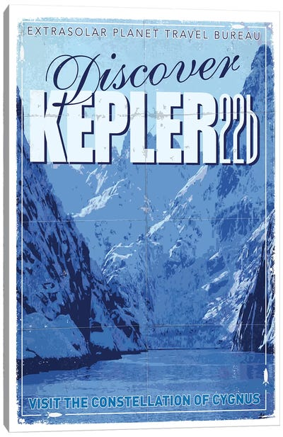 Exoplanet Travel Poster II Kepler-22b Canvas Art Print