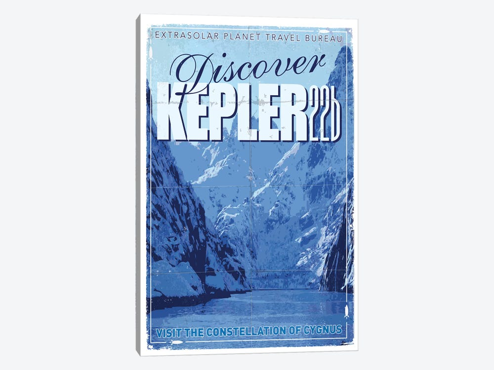 Exoplanet Travel Poster II Kepler-22b by Chungkong 1-piece Canvas Wall Art