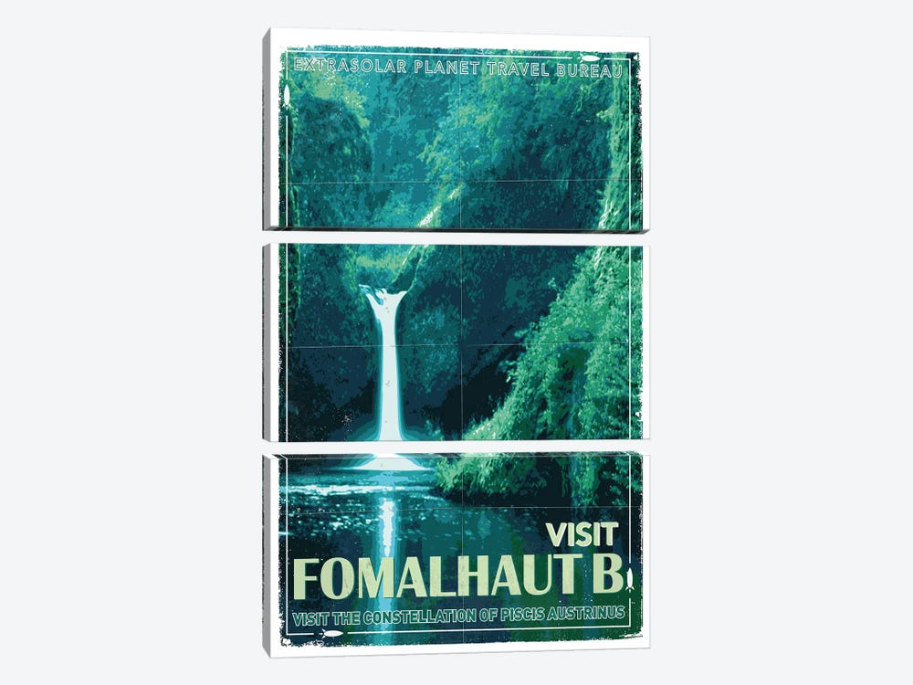 Exoplanet Travel Poster IV Fomalhaut b by Chungkong 3-piece Canvas Art