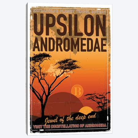 Exoplanet Travel Poster VI Upsilon Andromedae Canvas Print #CKG839} by Chungkong Canvas Wall Art