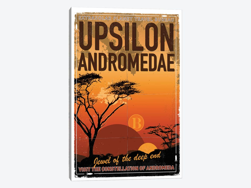 Exoplanet Travel Poster VI Upsilon Andromedae by Chungkong 1-piece Canvas Wall Art