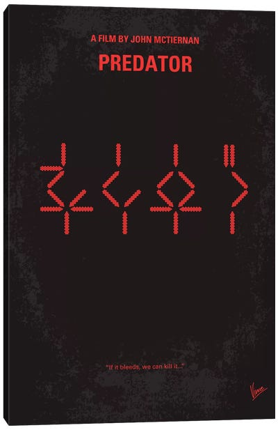 Predator Minimal Movie Poster Canvas Print #CKG83